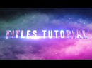 After Effects Tutorial Suicide Squad TITLES Recreation ( Element 3D and Particular )