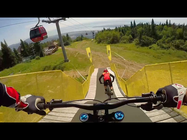 Claudio Caluori Mark Wallace Shred Mont-Sainte-Anne: GoPro View | UCI MTB World Cup 2016