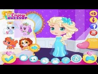 Disney Princess and Elsa Frozen Dress up with Chibi Style Nữ hoàng Elsa mặc đồ phong cách Chibi