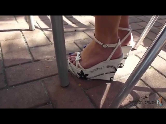 Candid Public High Heels Wedges 032v T13 Blue Enamel 001