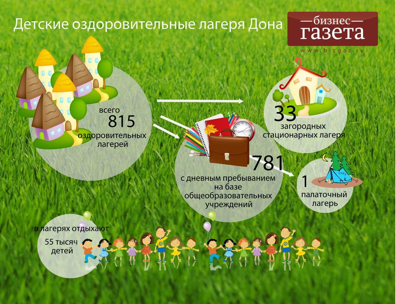 Инфографика: Детские оздоровительные лагеря на Дону