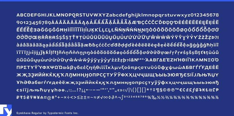 Download Gymkhana font (typeface)