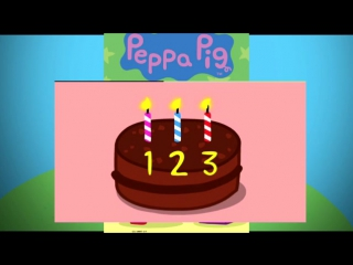Peppa pig [свинка пеппа] - counting - cartoons in english for kids [мультфильм на английском для детей]
