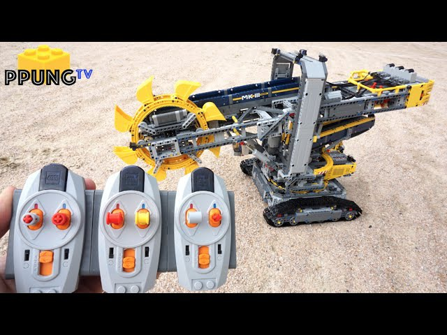 LEGO Technic 42055 RC Motorized Bucket Wheel Excavator(Full RC MOD) building instructions by 뿡대디