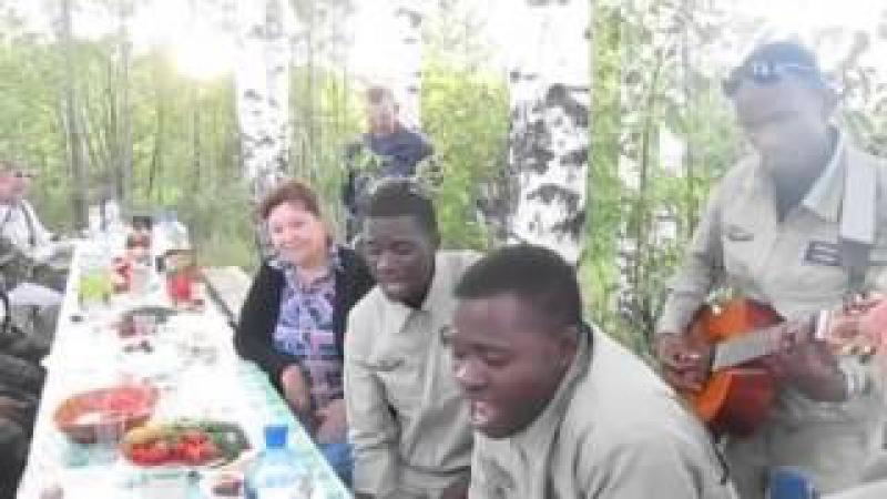 Братья из Конго поют Господа Офицеры Газманова