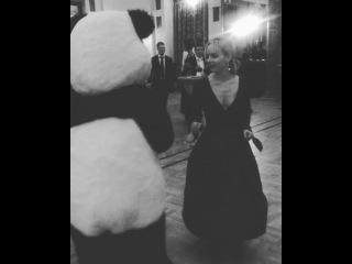 """# Olesya Yermakova © on Instagram: """"Cha-cha dancing #Panda // Тянет к животным в последнее время 😂 #КунгфуПанда 🐼 #WWF #ВенскийВечер"""""""
