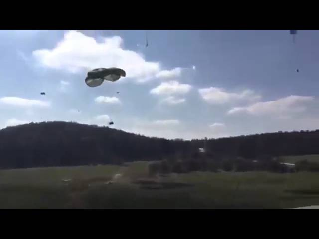 Учения НАТО! Хамер в дребезг! Армия США! US Army Как Американцы десантируют технику