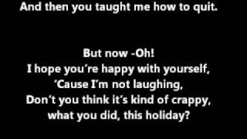 All Time Low Merry Christmas Kiss My Ass LYRICS ON SCREEN IN DESCRIPTION