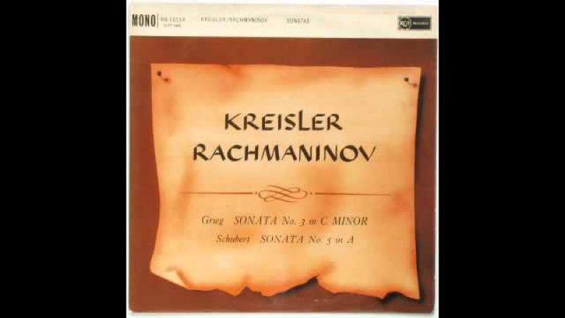 Grieg: Sonata No. 3 in C minor - 1st (Kreisler, violin; Rachmaninov, piano)