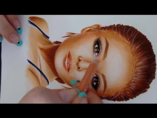 Speed Painting_ How to do a portrait with Copic markers