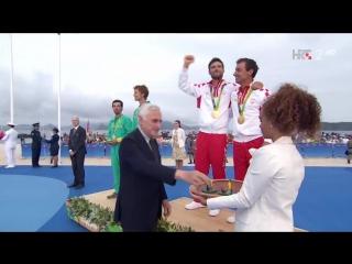 Sime Fantela i Igor Marenic, ol. prvaci u jedrenju, kl. 470 - Dodjela zlatnih medalja (Rio 2016), 18.08.2016. Full HD