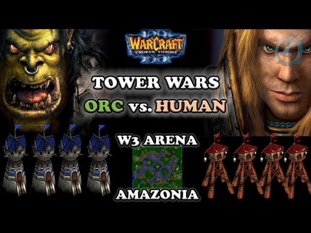 Grubby | Warcraft 3 The Frozen Throne | Orc vs. Human - TOWER WARS