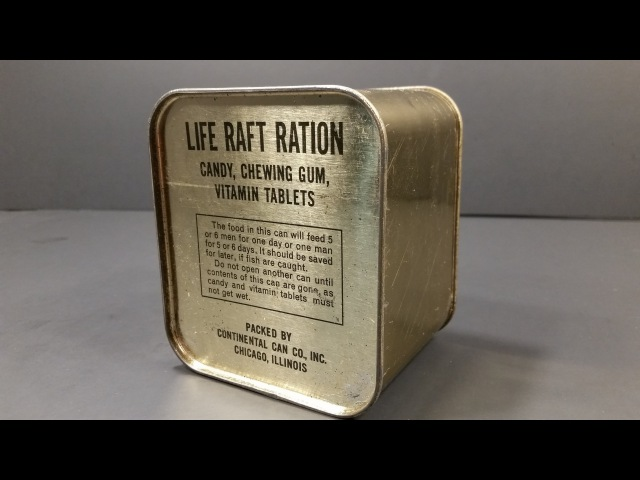 1940 1945 WW2 AAF Life Raft Ration MRE US Military Food Review Army Air Force Charms Candy Americana