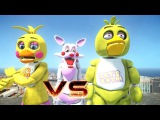 MANGLE VS CHICA AND TOY CHICA - EPIC BATTLE