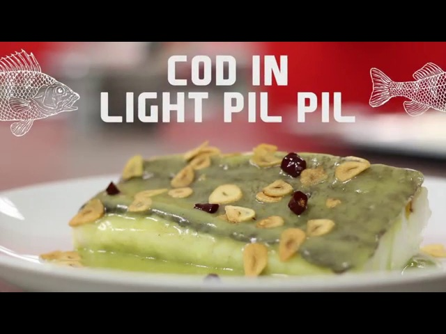Cod in light pil pil sauce (Basque Style)