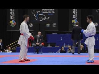 Tzanos Michail Georgios (GRE) - Gurbanli Asiman (AZE). Karate1. Tyumen, April 2013
