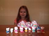 Хелло Китти киндер сюрприз распаковка шоколадных яиц Hello Kitty Kinder Surprise unboxing