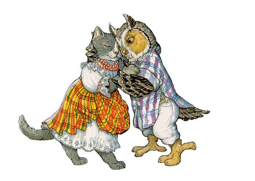 Иллюстрация из книги Филин и Мурлыка