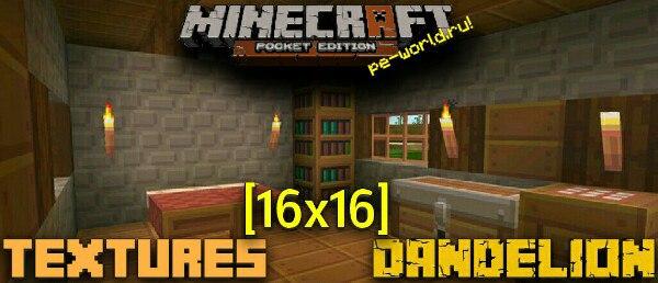 Превью для «Dandelion [16х15]   MINECRAFT PE 0.15.X»