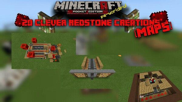 Превью для «20 Clever Redstone Creations   MINECRAFT PE 0.15.X»