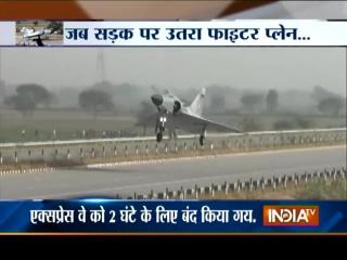 Истребитель Mirage-2000 Индийских Военно-воздушных сил совершил запланированную посадку на автомагистраль Yamuna