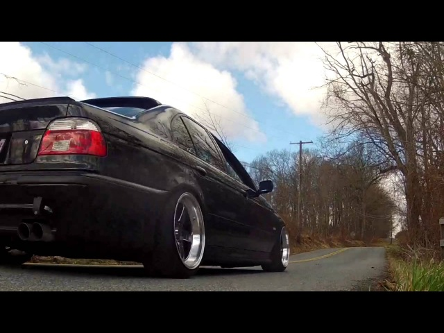 BMW E39 540i drifting, flybys, burnouts, launches, best sounding 540i