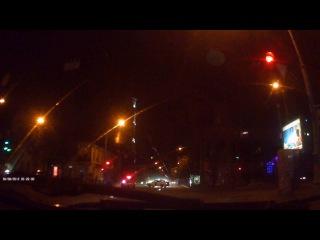 Ночное ДТП в центре Одессы: столкнулись Hyundai и Toyota. Видео