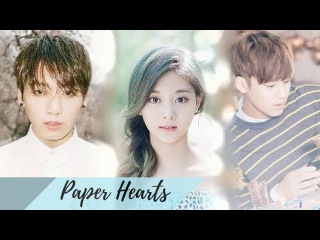 BTS Jungkook x Twice Tzuyu (feat. Seventeen Mingyu)  ♡PAPER HEARTS♡ (FMV)