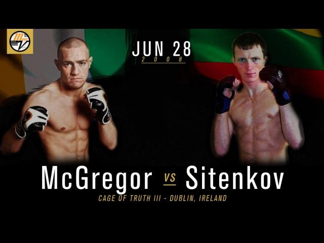Full Fight Video: Conor McGregor vs Artemij Sitenkov: Mcgregor's First Professional MMA Loss