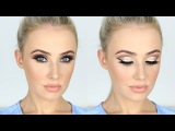 NEW YEARS Makeup Tutorial  Sparkly Glam Cut-Crease + LONG Lashes!  Lauren Curtis