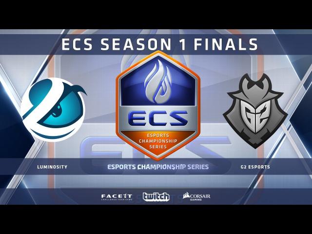 Luminosity vs G2 - Map 2 - Overpass (ECS Season 1 Finals)
