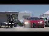 Kawasaki H2R vs Bugatti Veyron Supercar 1 2 Mile