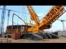 Монтаж крана Liebherr 11350 на строительной площадке Белорусской АЭС