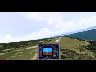 Trabzon (LTCG) - Посадка на 29 полосу с моря (камера 1)
