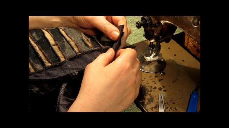 Как вшить змейку соединение верха куртки с подкладкой