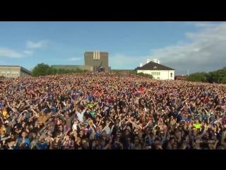 Как футболистов сборной Исландии встретили дома после триумфа на Euro 2016