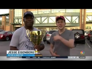 Jesse at Monday night's Indianapolis Indians game (08/22/2016) from WTHR.com