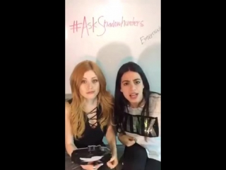 Emeraude Toubia and Kat McNamara periscope livechat with the