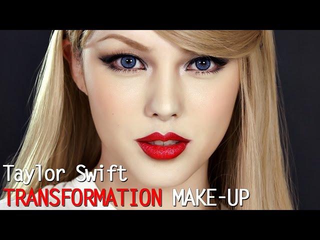 Taylor swift transformation make up (With subs) 테일러 스위프트 커버 메이크업 - YouTube