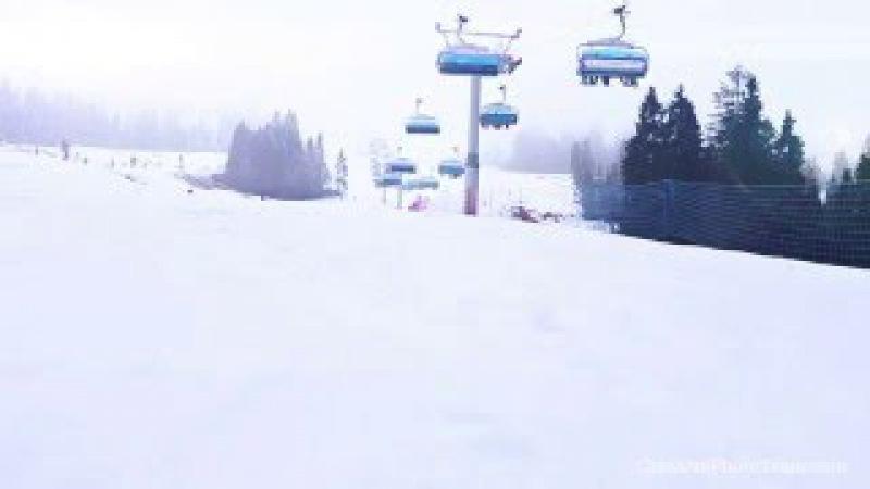 Poland, Białka Tatrzańska 2014 - Ski Center Kotelnica ski lift TImelapse