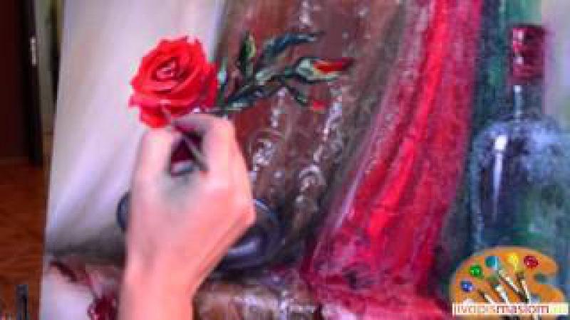 Часть 5. Написание розы. Ольга Базанова