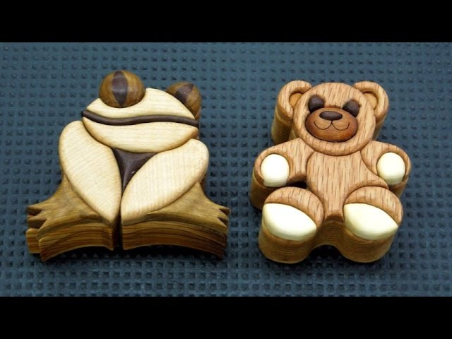 Keepsake Wood Intarsia Boxes