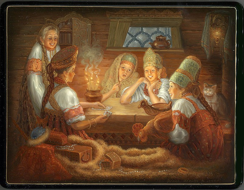 Гадания - картины художников известных и неизвестных -hU8ssi81M0