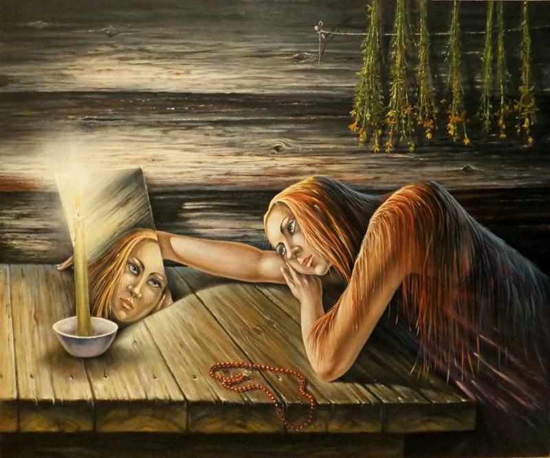 Гадания - картины художников известных и неизвестных BBsf-w1gIAI