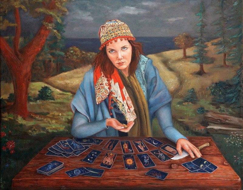 Гадания - картины художников известных и неизвестных NKikVkaQtP0