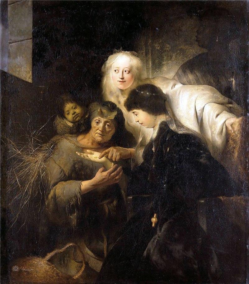 Гадания - картины художников известных и неизвестных RWnjrObHOA4