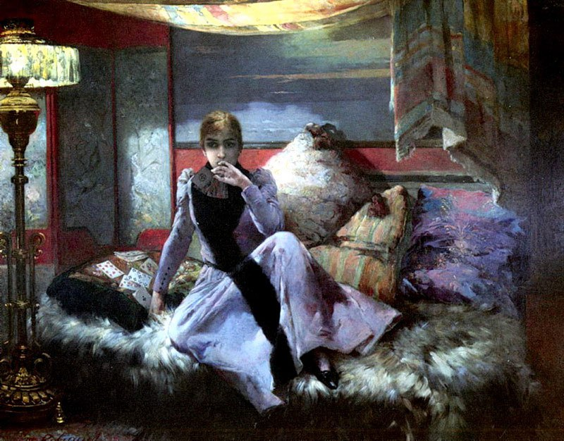 Гадания - картины художников известных и неизвестных Y651ib1_3zo