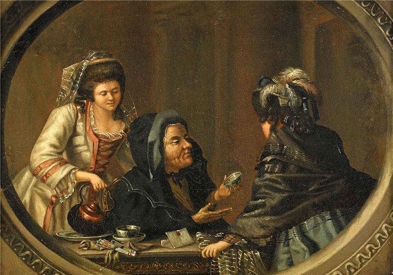 Гадания - картины художников известных и неизвестных FYcbGRpURHg