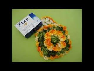 Porta Sabonete em Crochê - Aprendendo Crochê