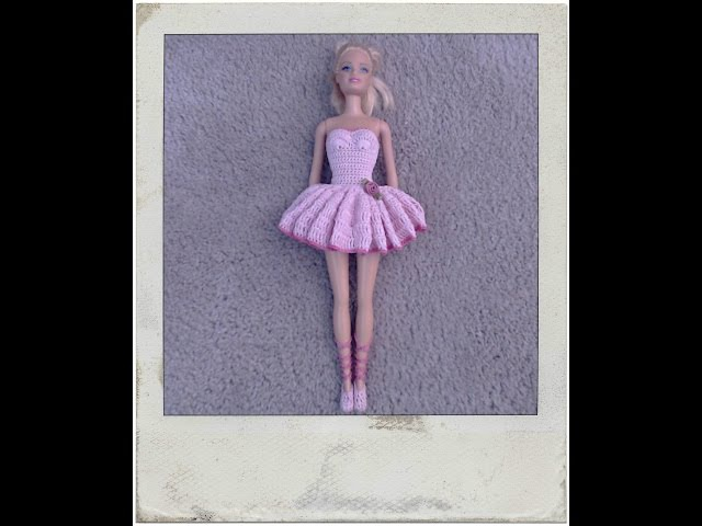 Crochet Barbie Ballerina Dress - Tutorial